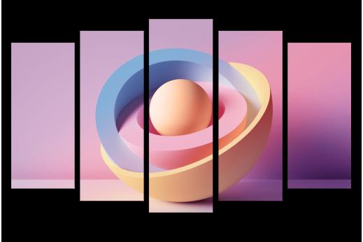 Модульная картина Внутри шара