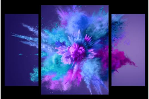 Модульная картина Красивый взрыв